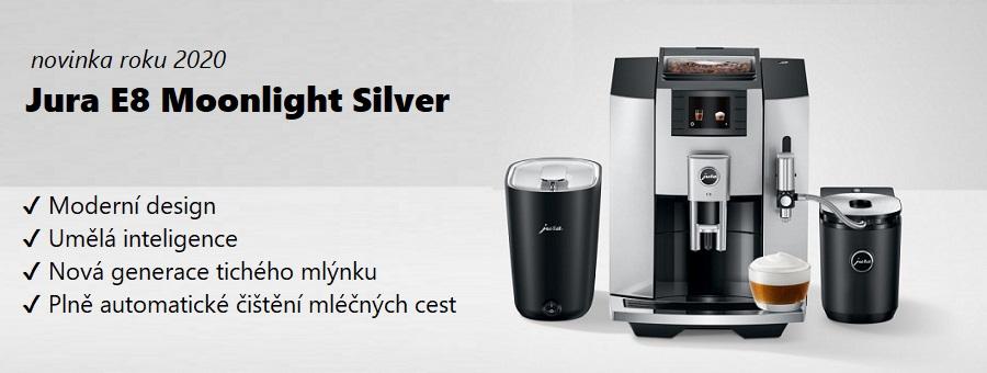 Jura E8 Moonlight Silver