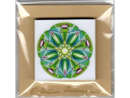 34 archandel rafael mandala nalepovaci blocek 5x5 cm