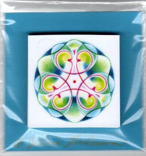 Mandala bloček 5x5 cm Mandaly: 13 klouby, svalstvo, kosti