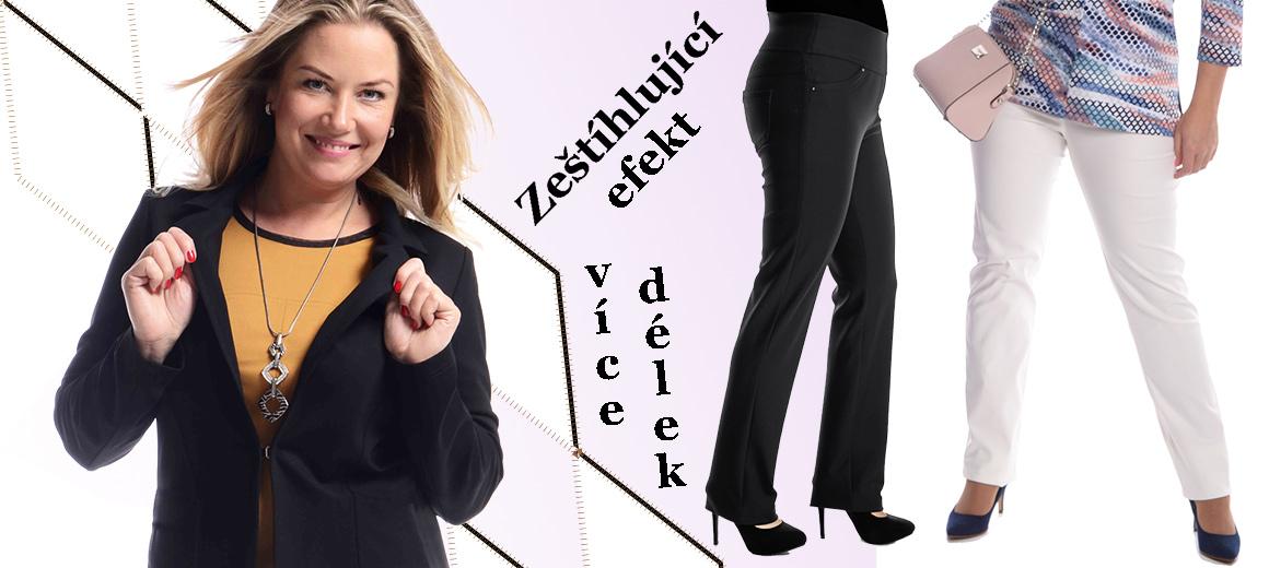 Zeštíhlující kalhoty pro plnoštíhlé