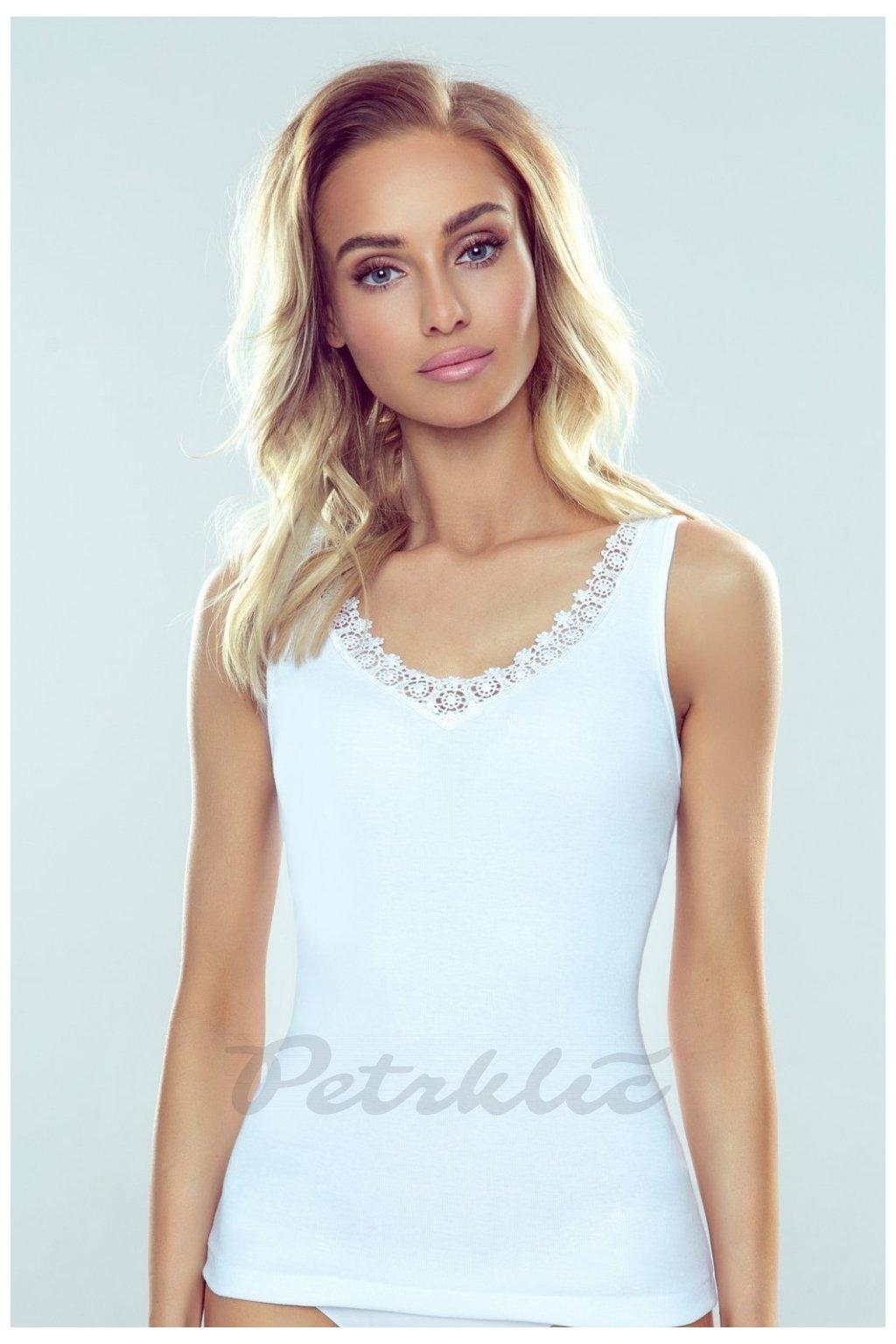 Bílá košilka s krajkou model 144063 Eldar