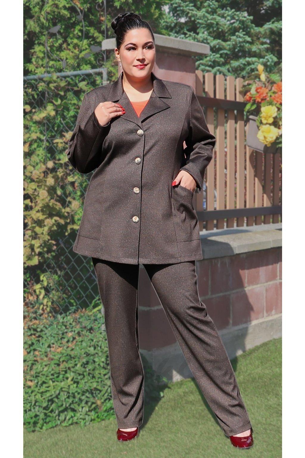 TEDY - pružné kalhoty s vyšším pasem