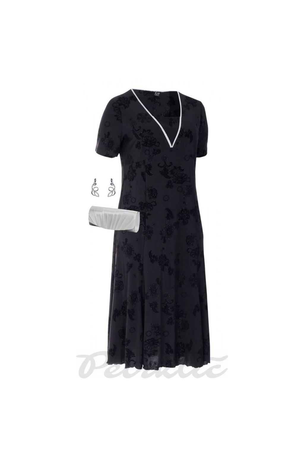 EVA černé šaty do společnosti