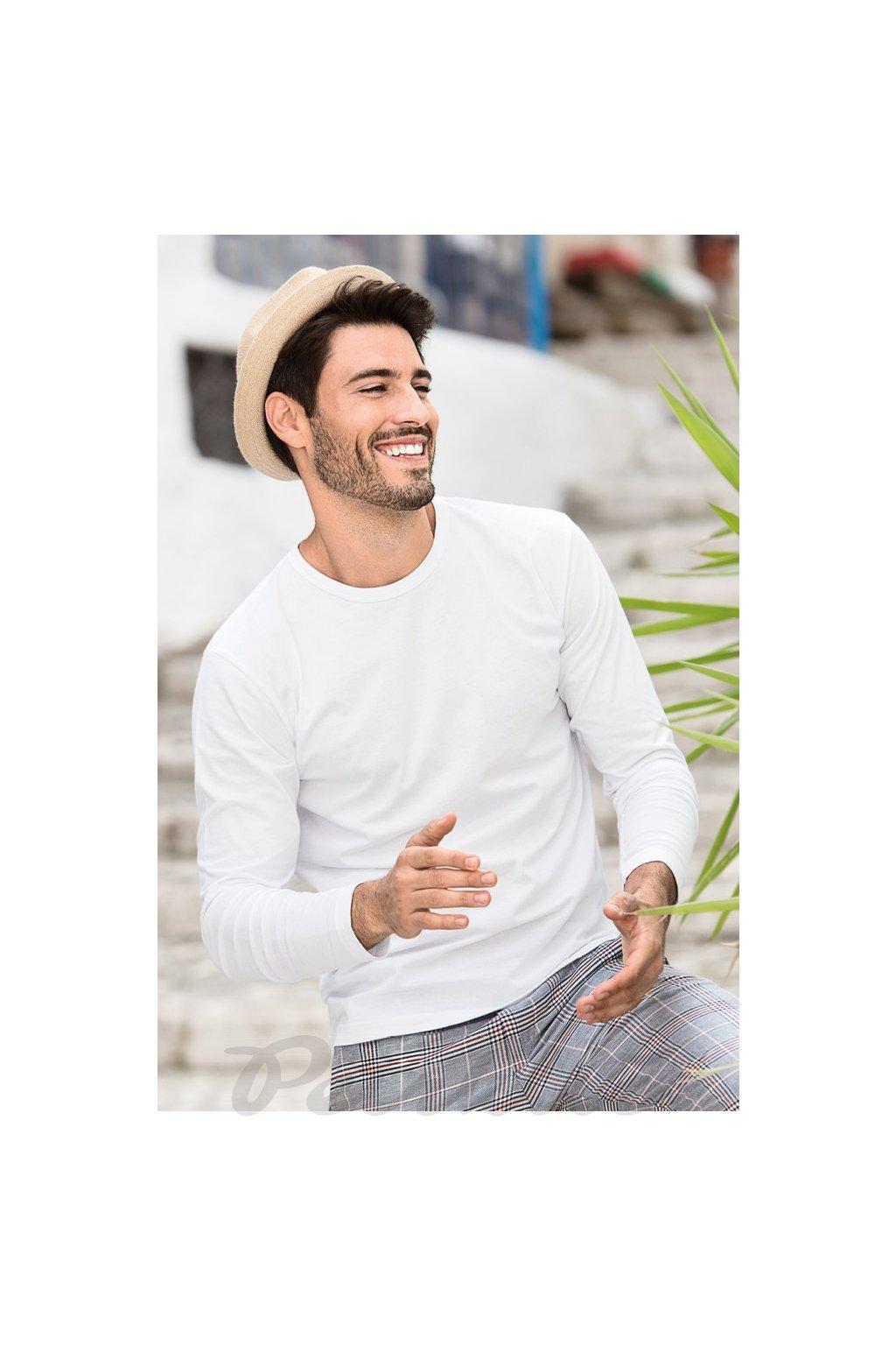 Pánské bavlněné tričko s dlouhým rukávem Fit T LS 119
