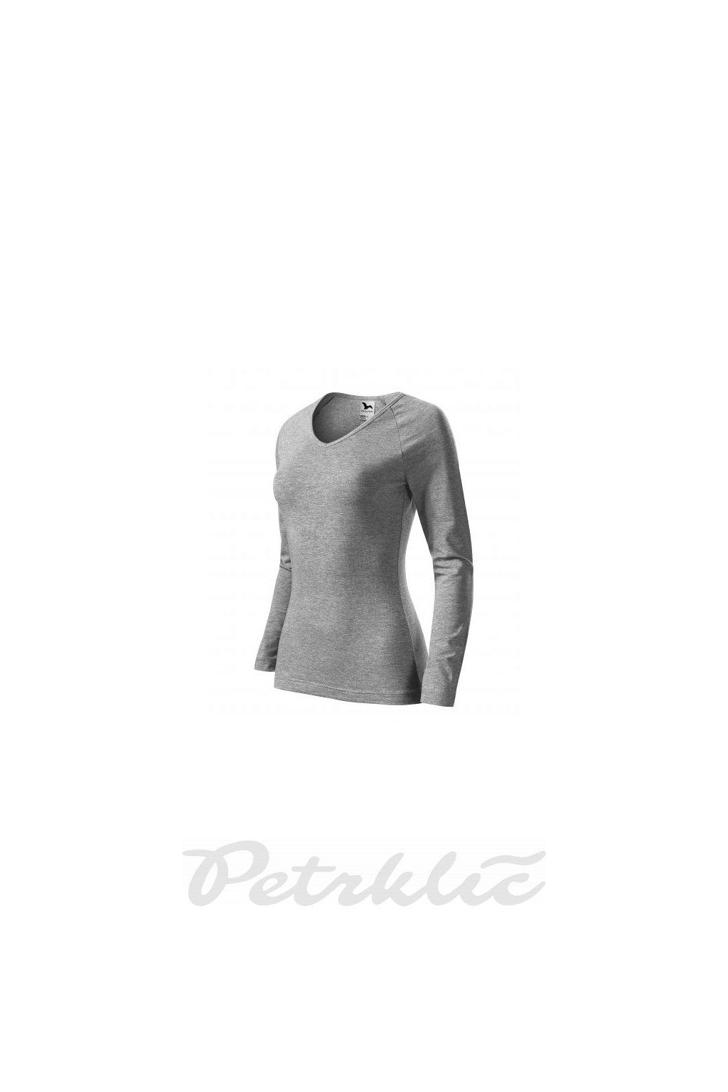 Dámské strečové tričko s dlouhými rukávy Elegance