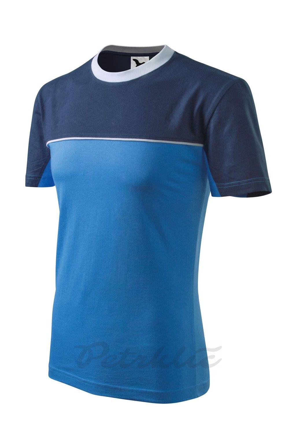 Tričko Colormix azurově modrá