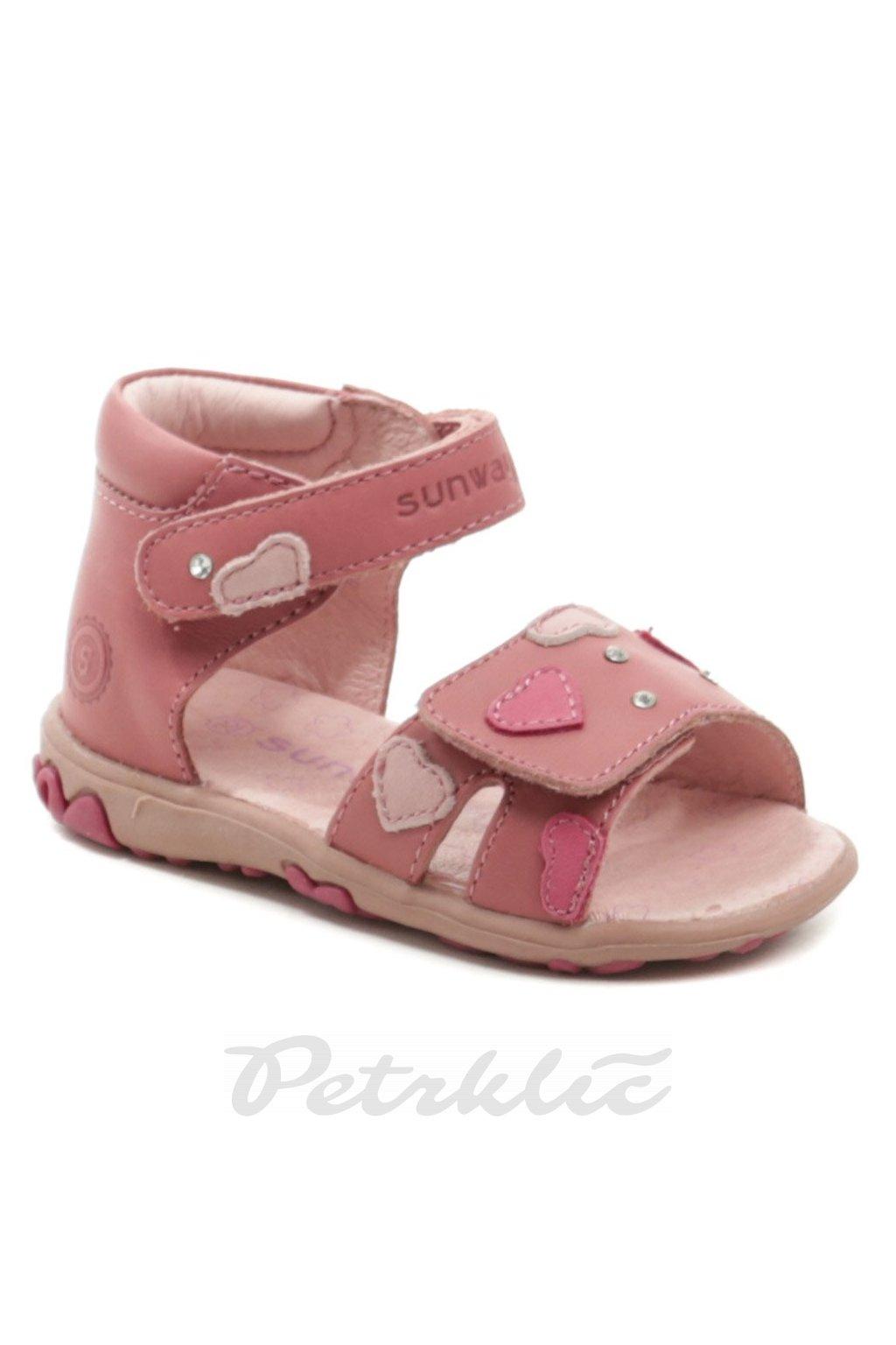 Sunway 1S6938 růžové dívčí sandálky
