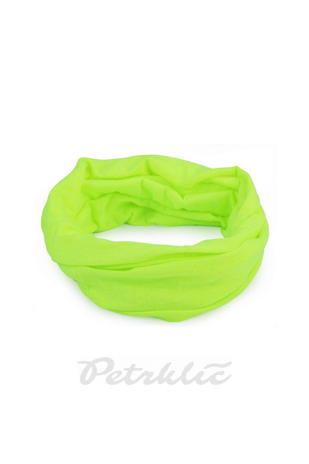 Multifunkční šátek pružný, bezešvý, jednobarevný L9810173