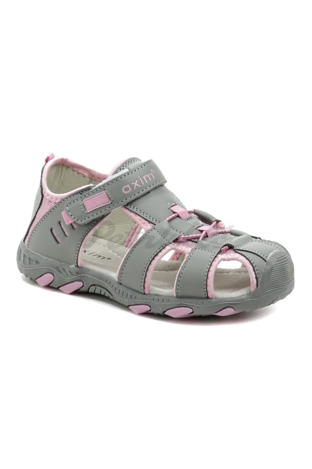 Axim 3S1116 šedo růžové dětské sandály