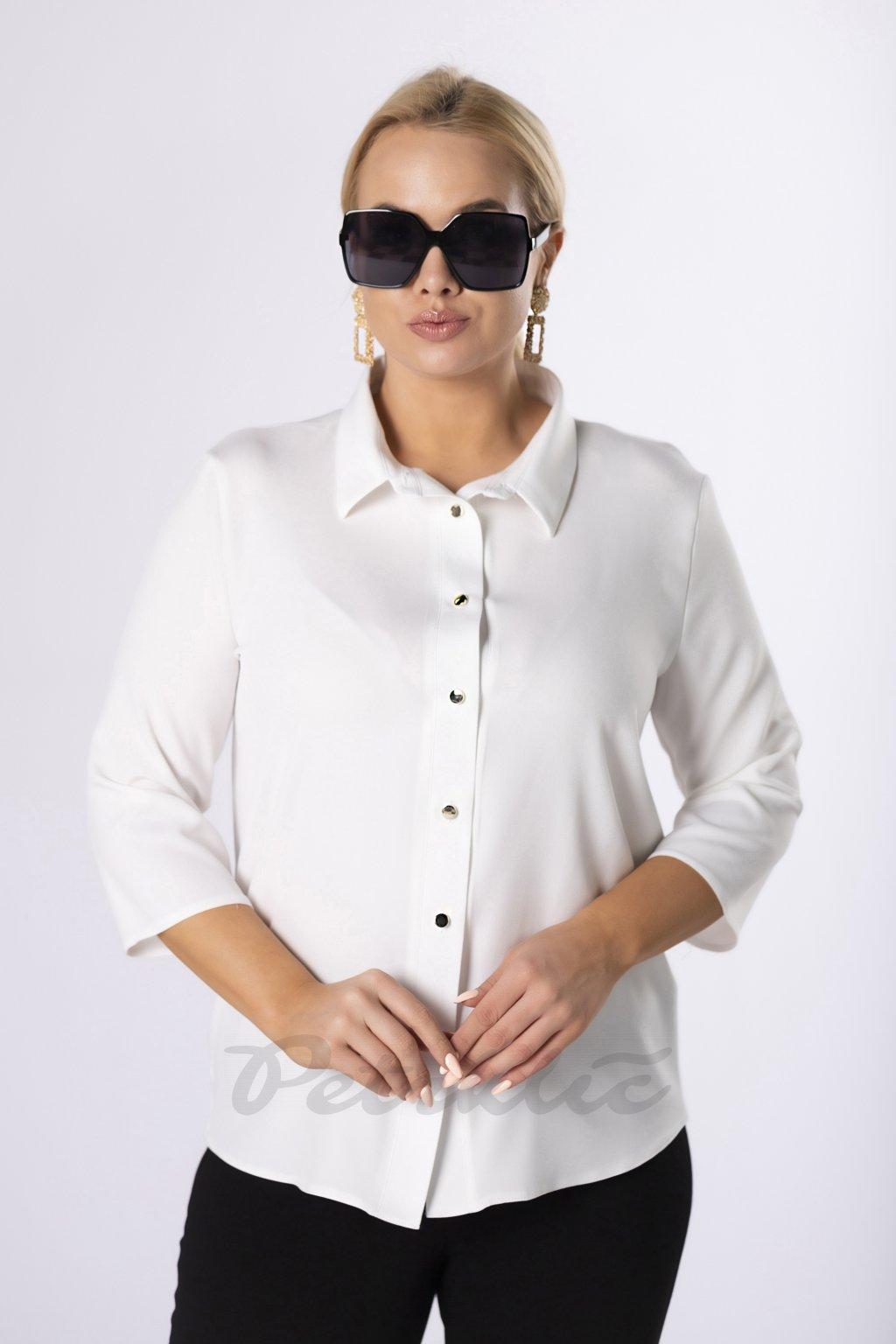 Košile s ¾ rukávem - krémová 83673