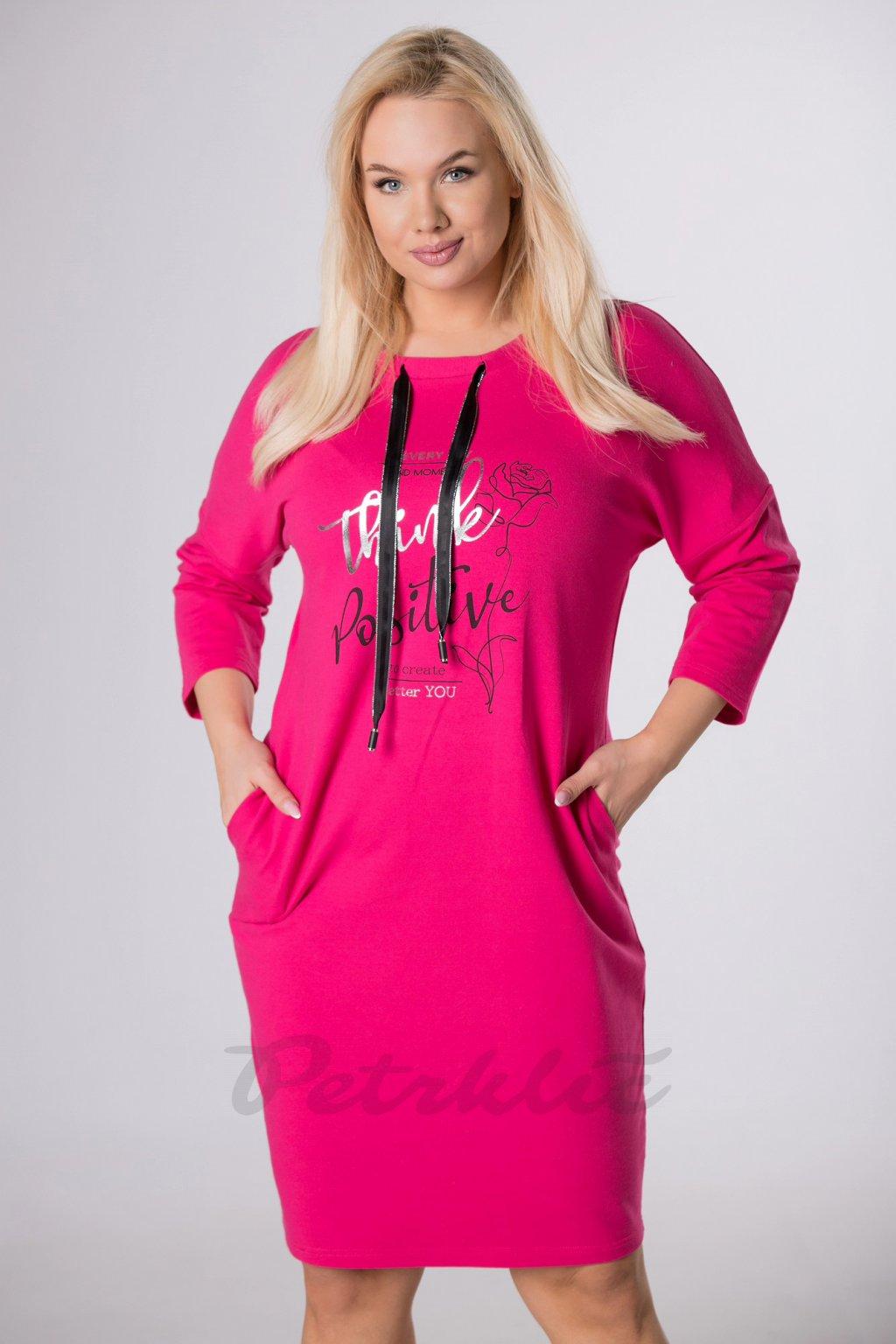 Bavlněné sportovní šaty - růžové QMT84135