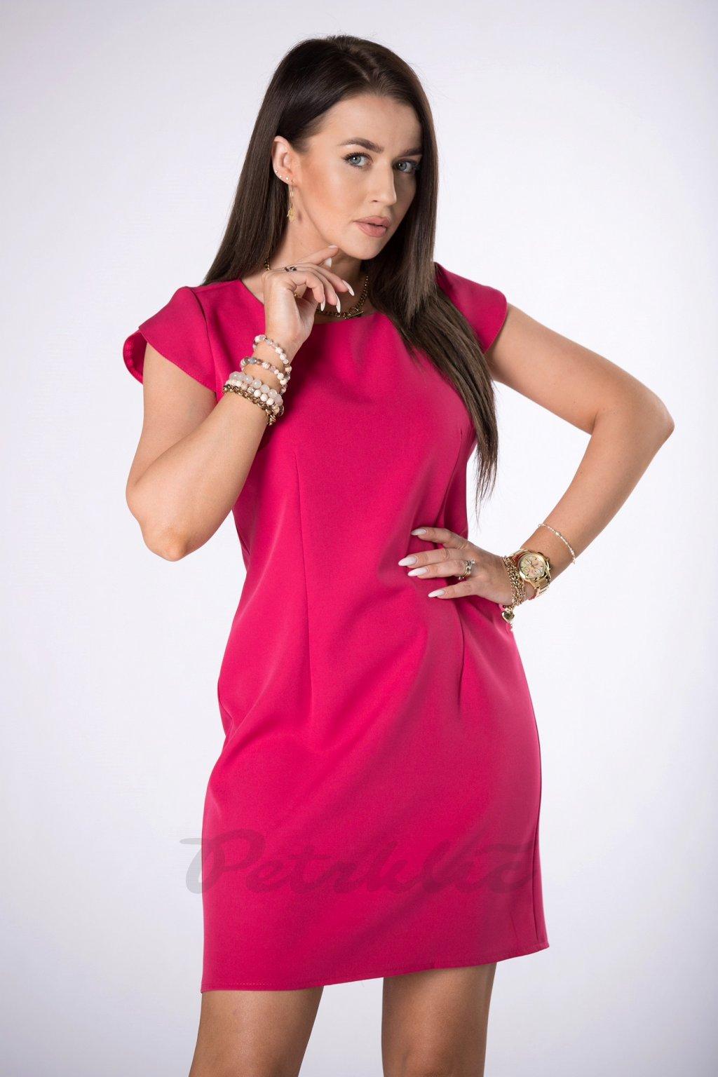 Šaty s krátkým rukávem - růžové QMM84395
