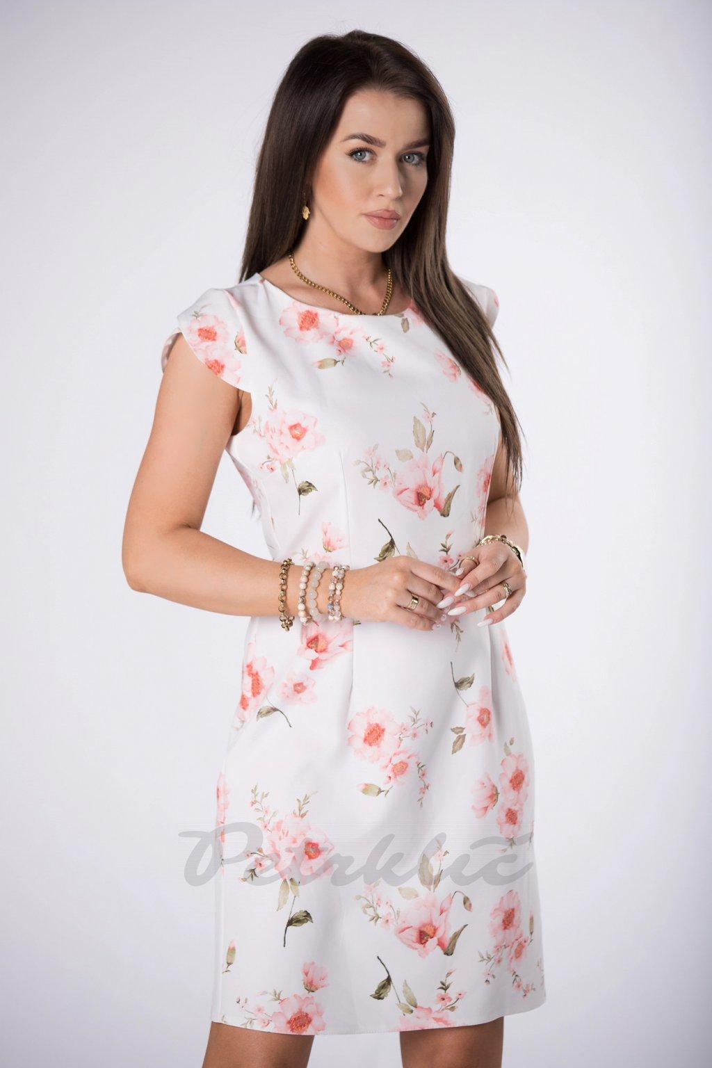 Klasické letní šaty s květinovým vzorem QMM84042