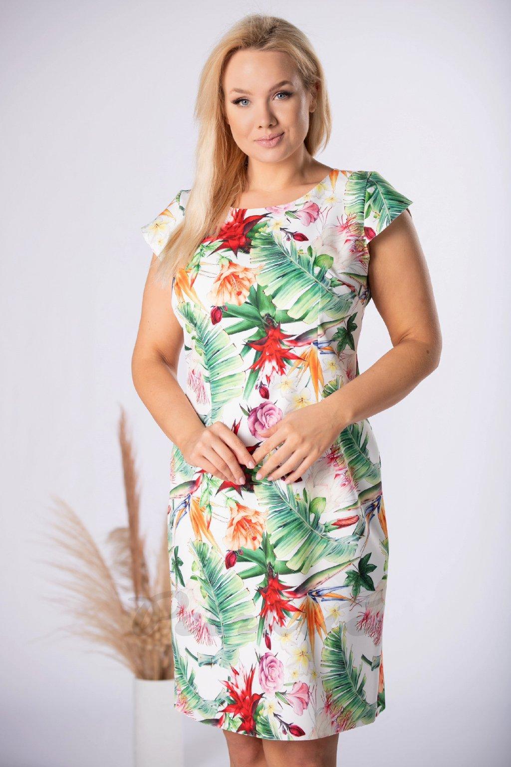 Klasické letní šaty s květinovým vzorem QMM84044