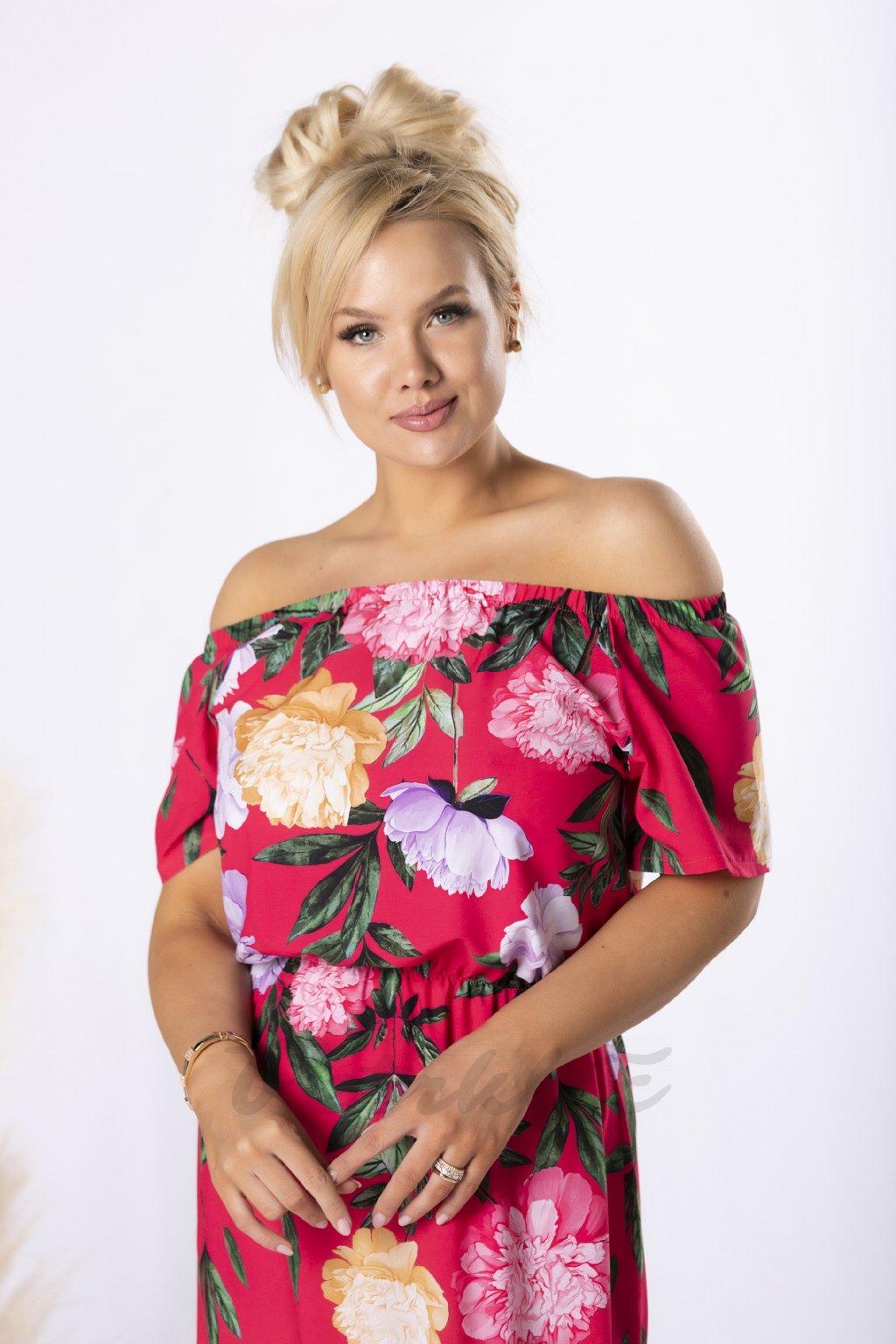 Šaty se španělským dekoltem QLU84633