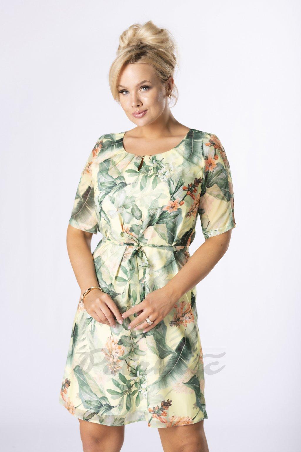 Šifonové šaty s originálně řešenými rukávy QTR84520