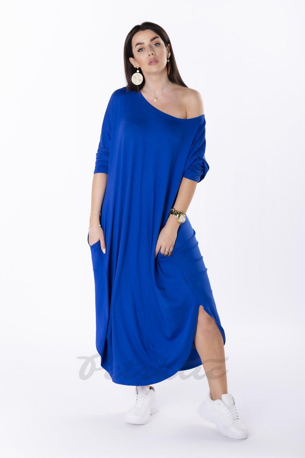 Letní oversize šaty – královsky modré QBT83874