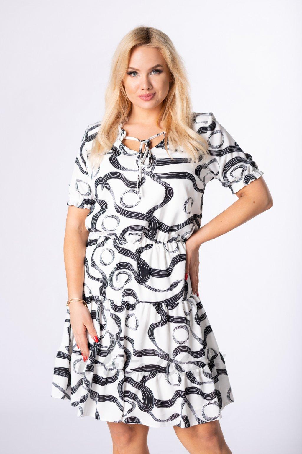 Šaty s volánem QTR84299