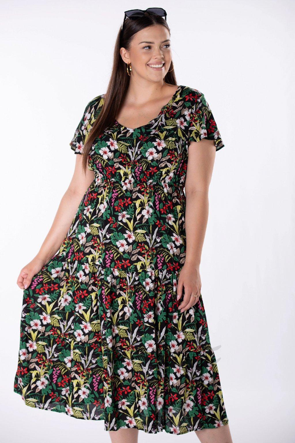 Letní šaty s volánem QMO84903