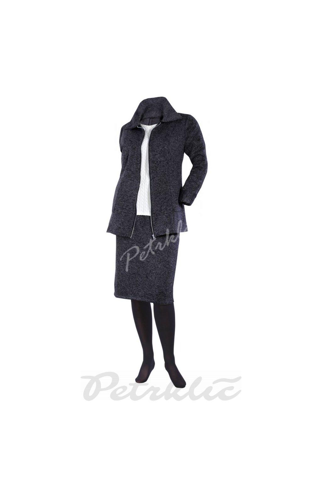 Fleecový kabátek s límcem Kapleta