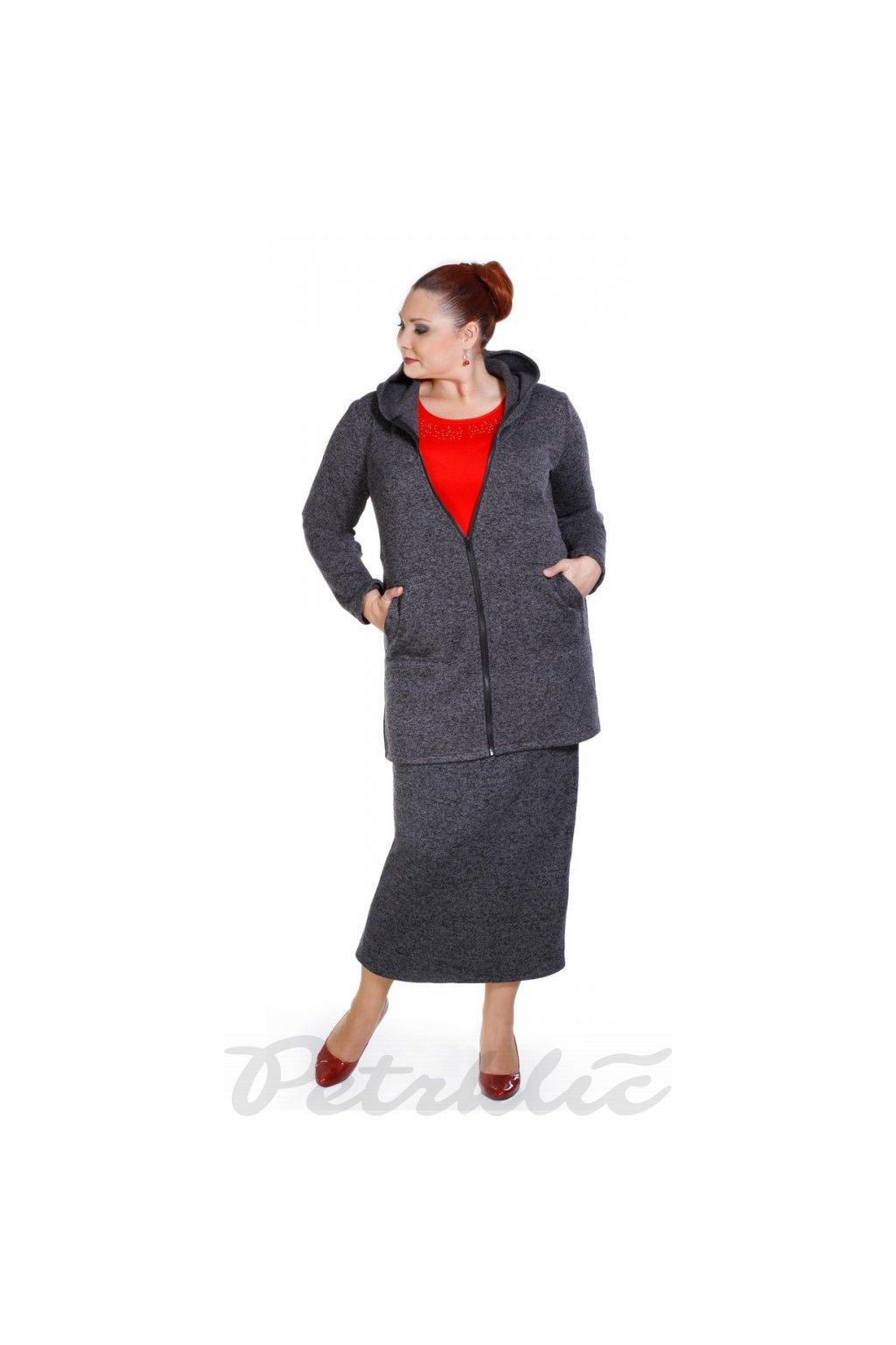 ELKA - fleecový kabátek s kapucí