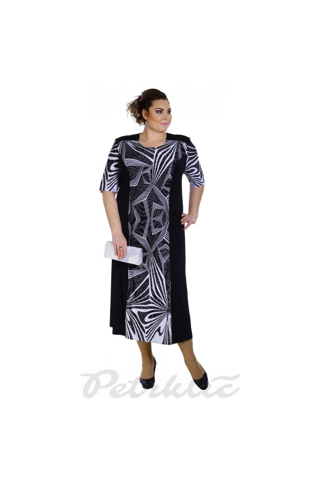 APOLENA  společenské šaty pro plnoštíhlé - 3 délky