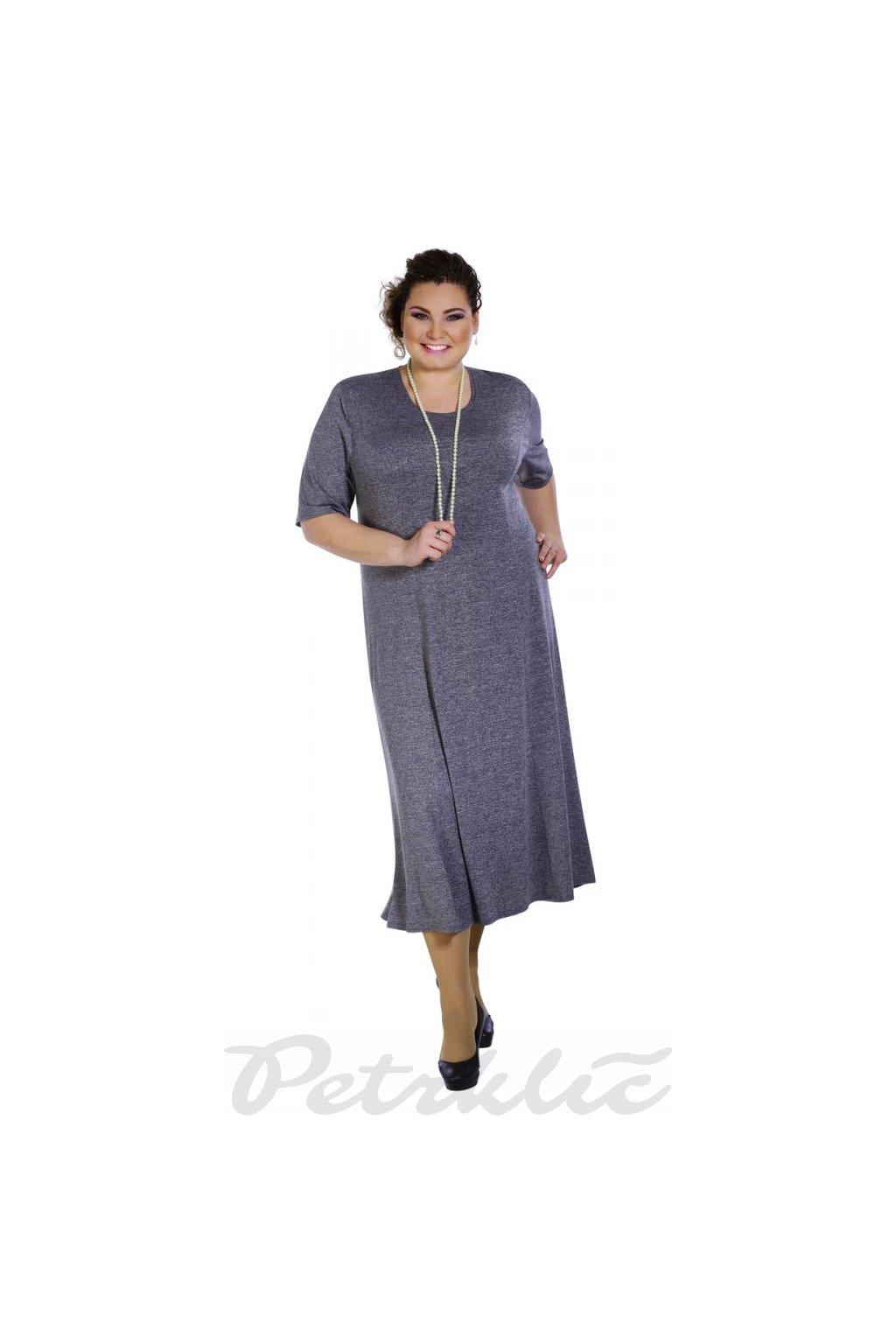 JIŘINA princesové šedé šaty - 3 délky