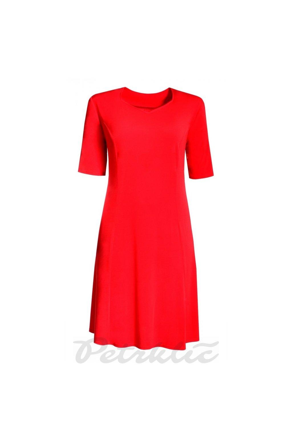 LIBUŠ šaty krátký rukáv 130 cm