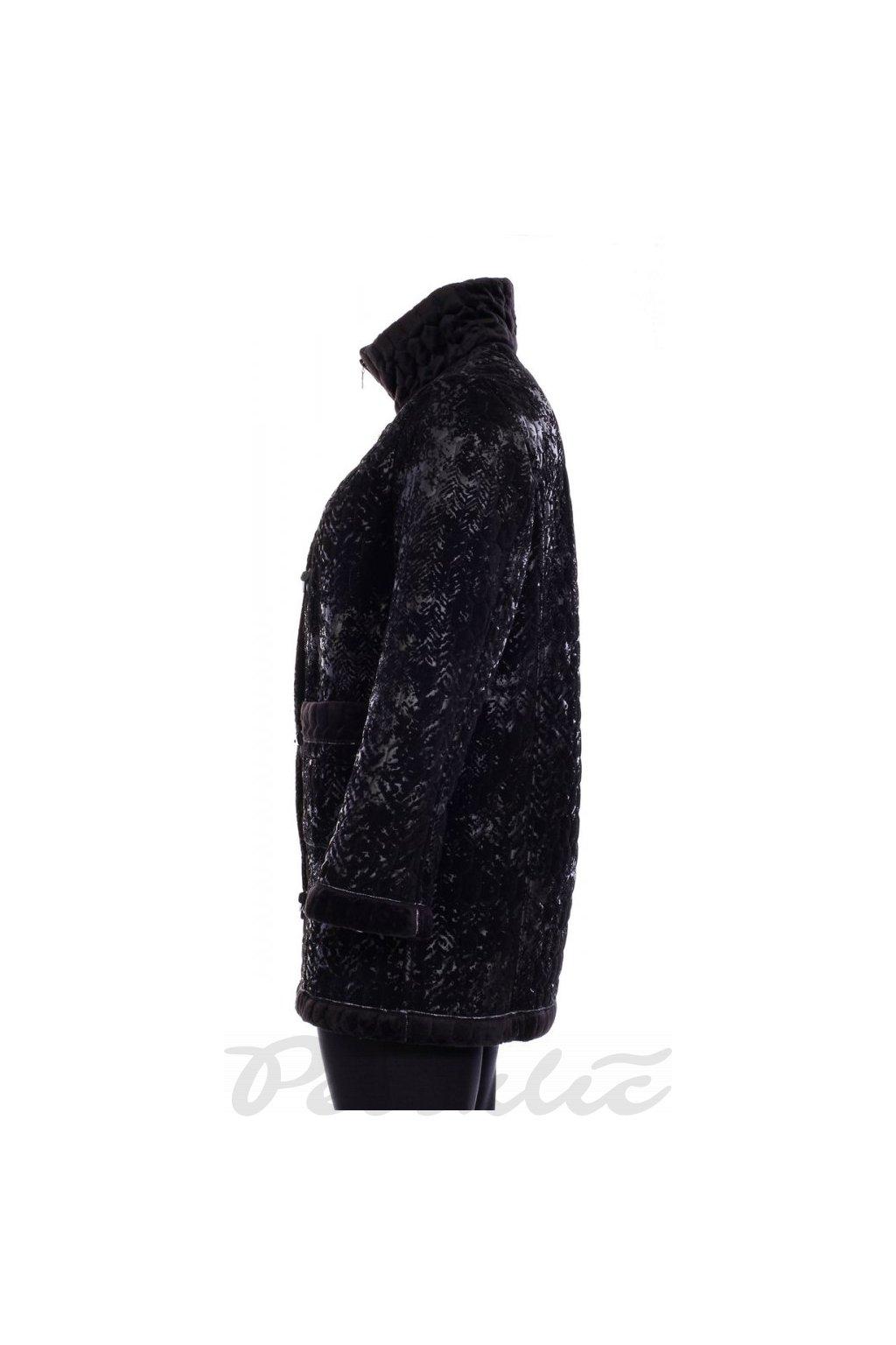 Teplý zimní 3/4 kabát černý - MÍŠA