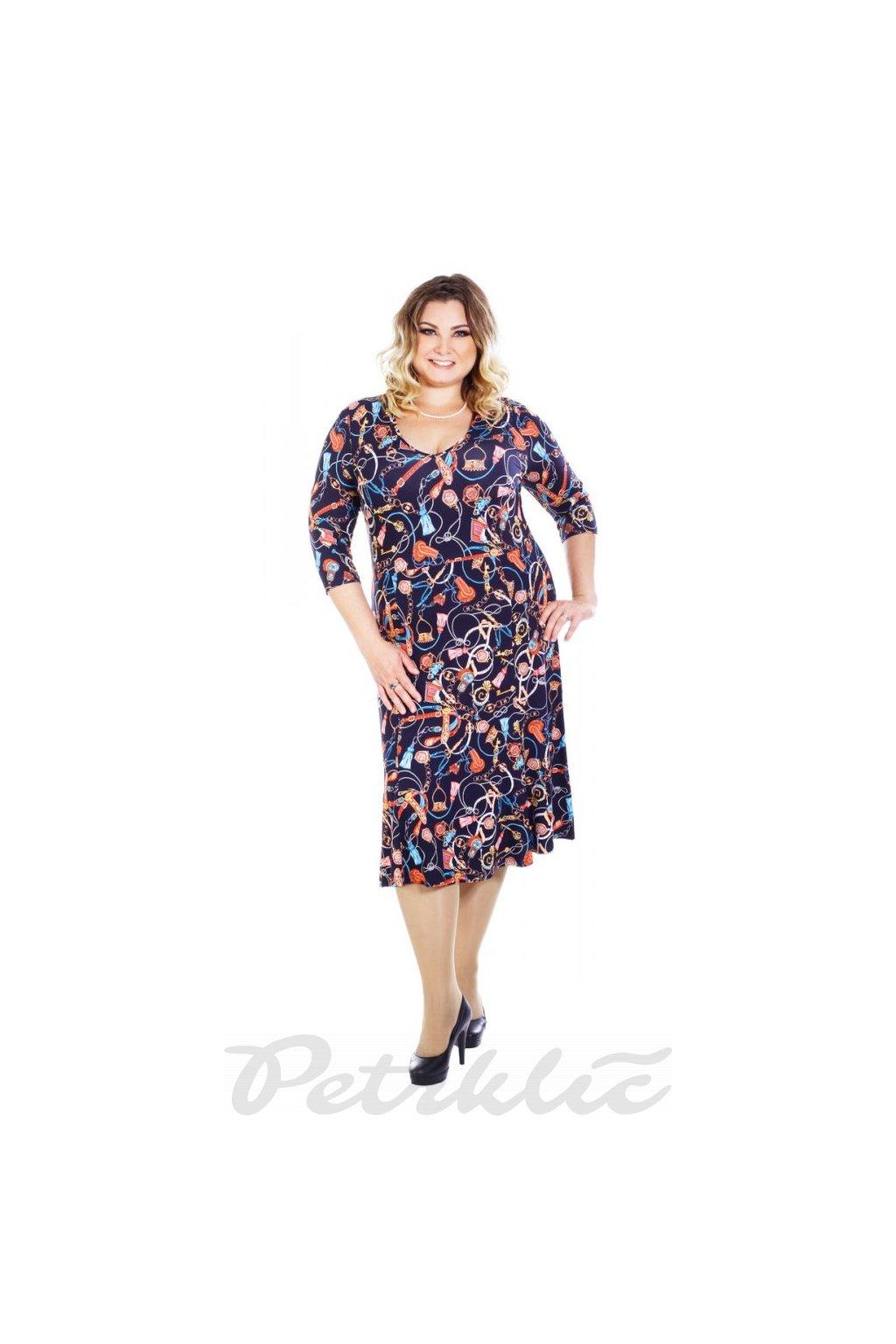 PROVÁZKY - šaty 3/4 rukáv 120 - 125 cm