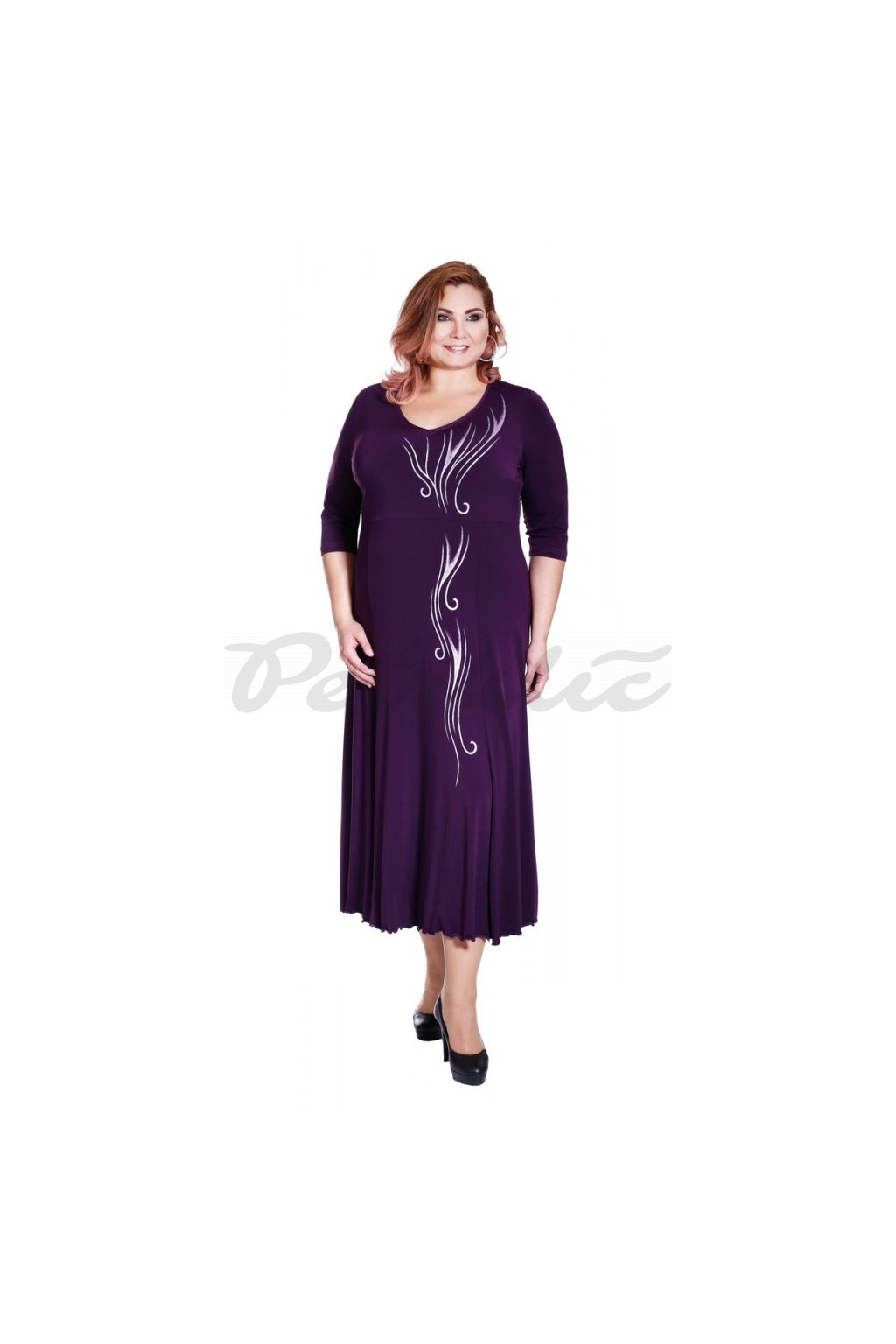 MÁJA - šaty 3/4 rukáv 120 - 125 cm