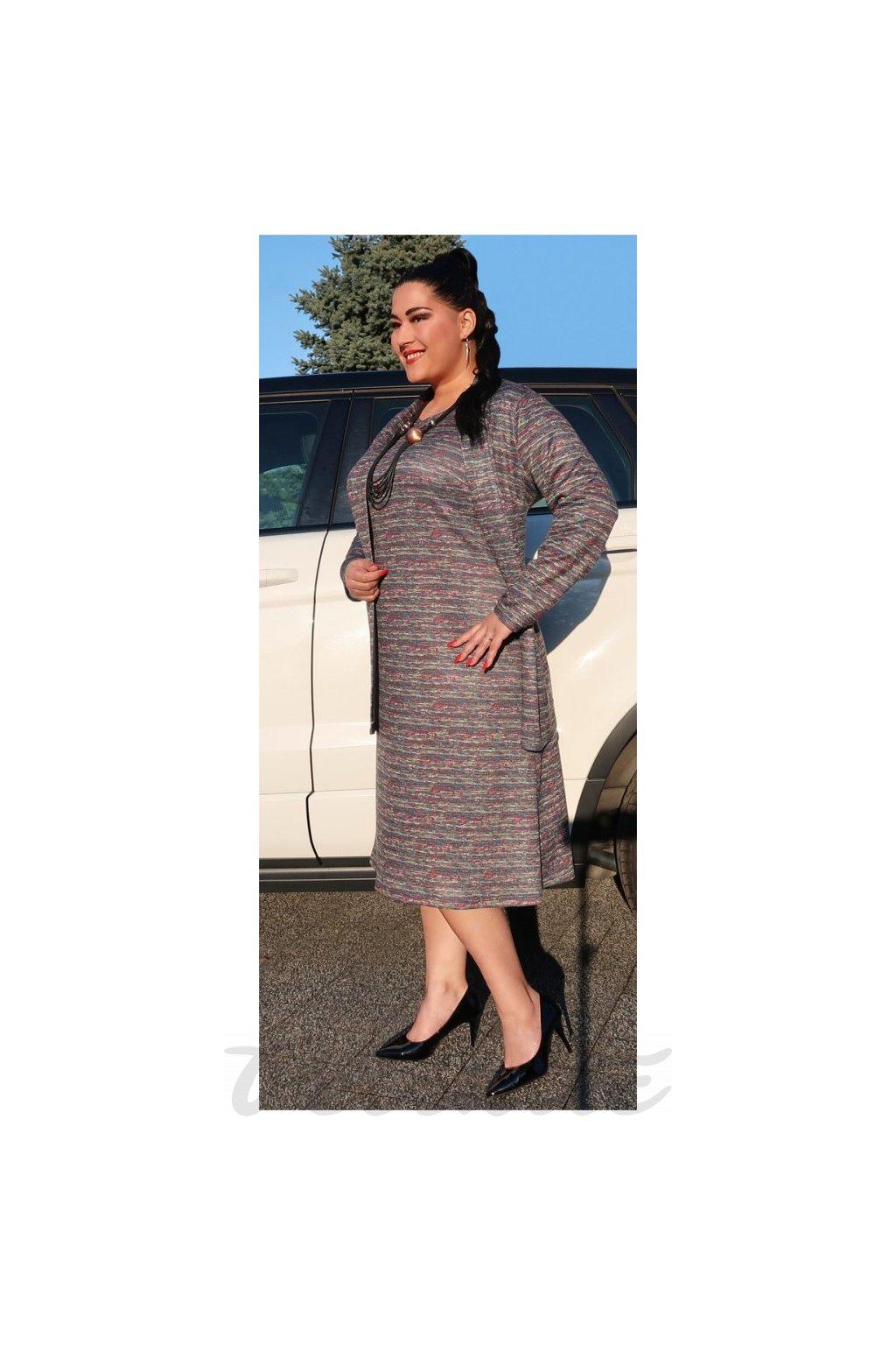 ARINA šaty barevný tisk - příjemný úplet