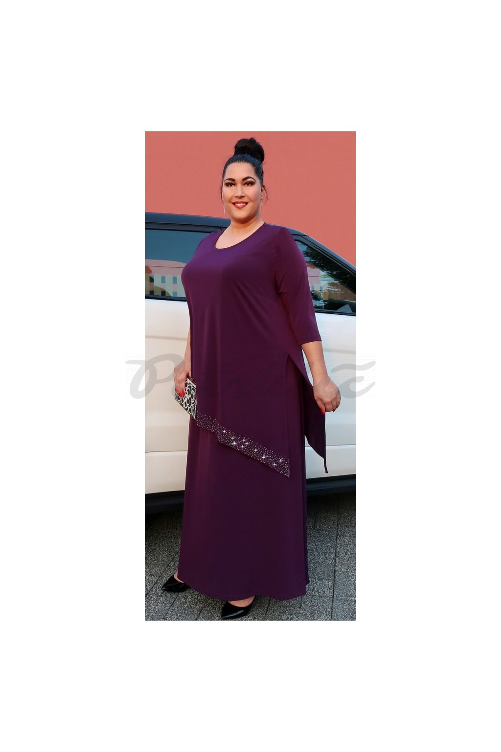 Elizabet - společenské šaty vrstvené 110 - 115 cm