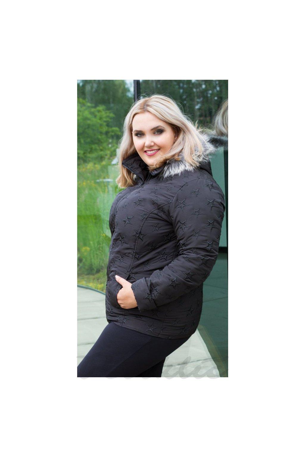 ZORKA - bunda s kožešinou 70 - 75 cm