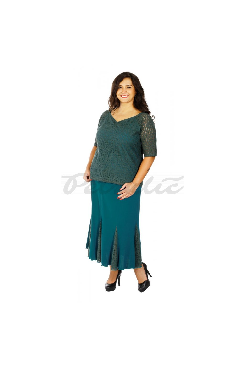 ZDENA - sukně s krajkou 80 - 85 cm