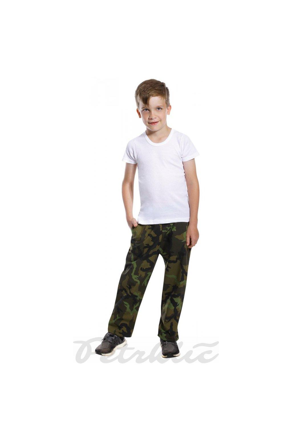 Dětské maskáčové kalhoty tmavé