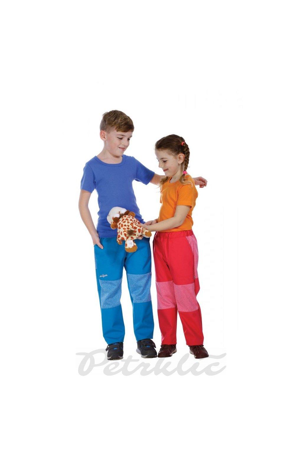 KOMBI - dětské softshellové kalhoty s refl. prvkem