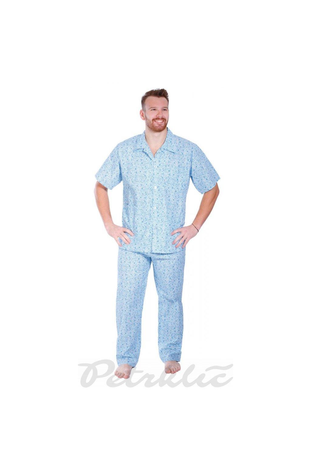 Pánské pyžamo kr. rukáv + kalhoty krátké nebo dlouhé