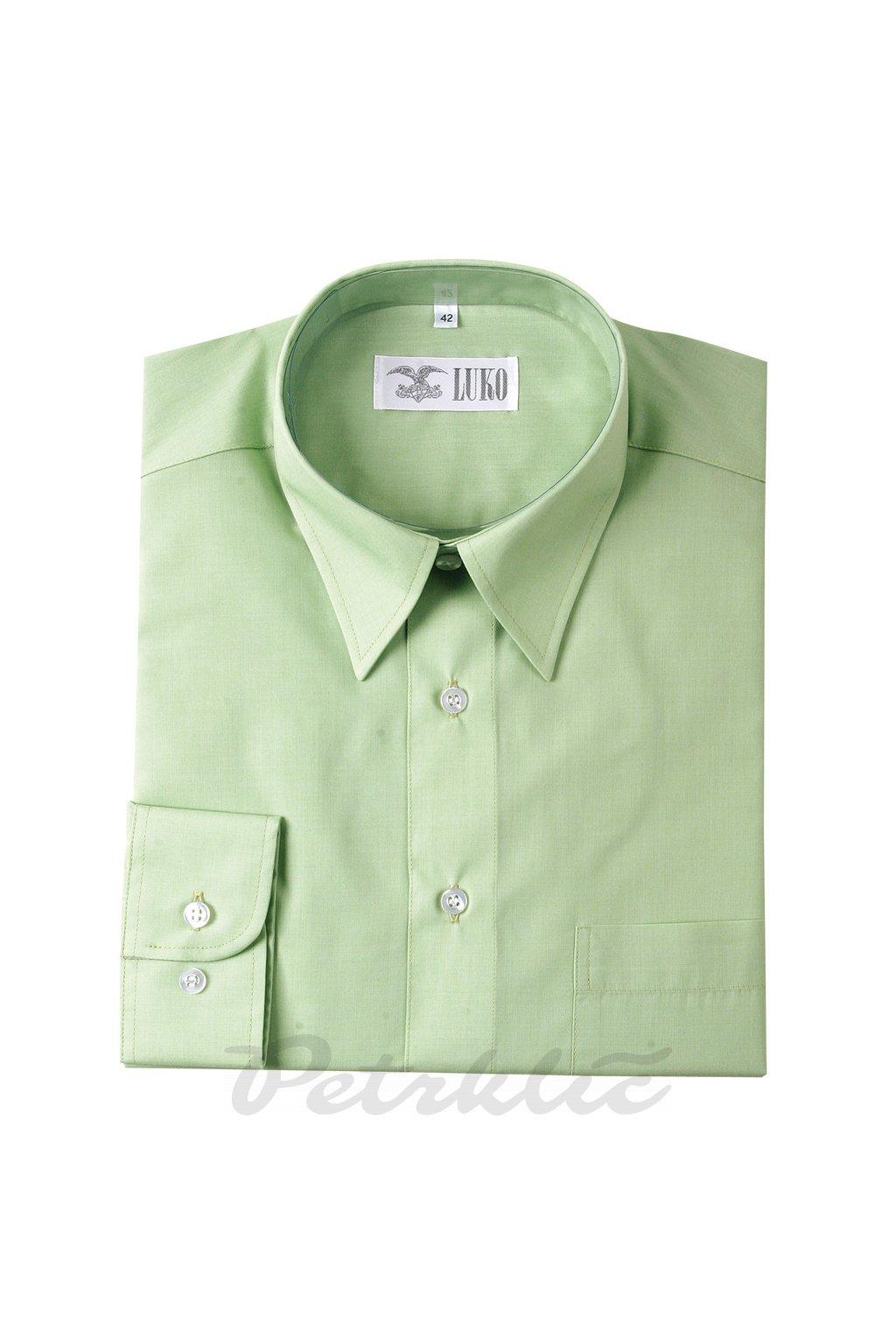 Pánská košile dlouhý rukáv - směs bavlna a polyester 1:1