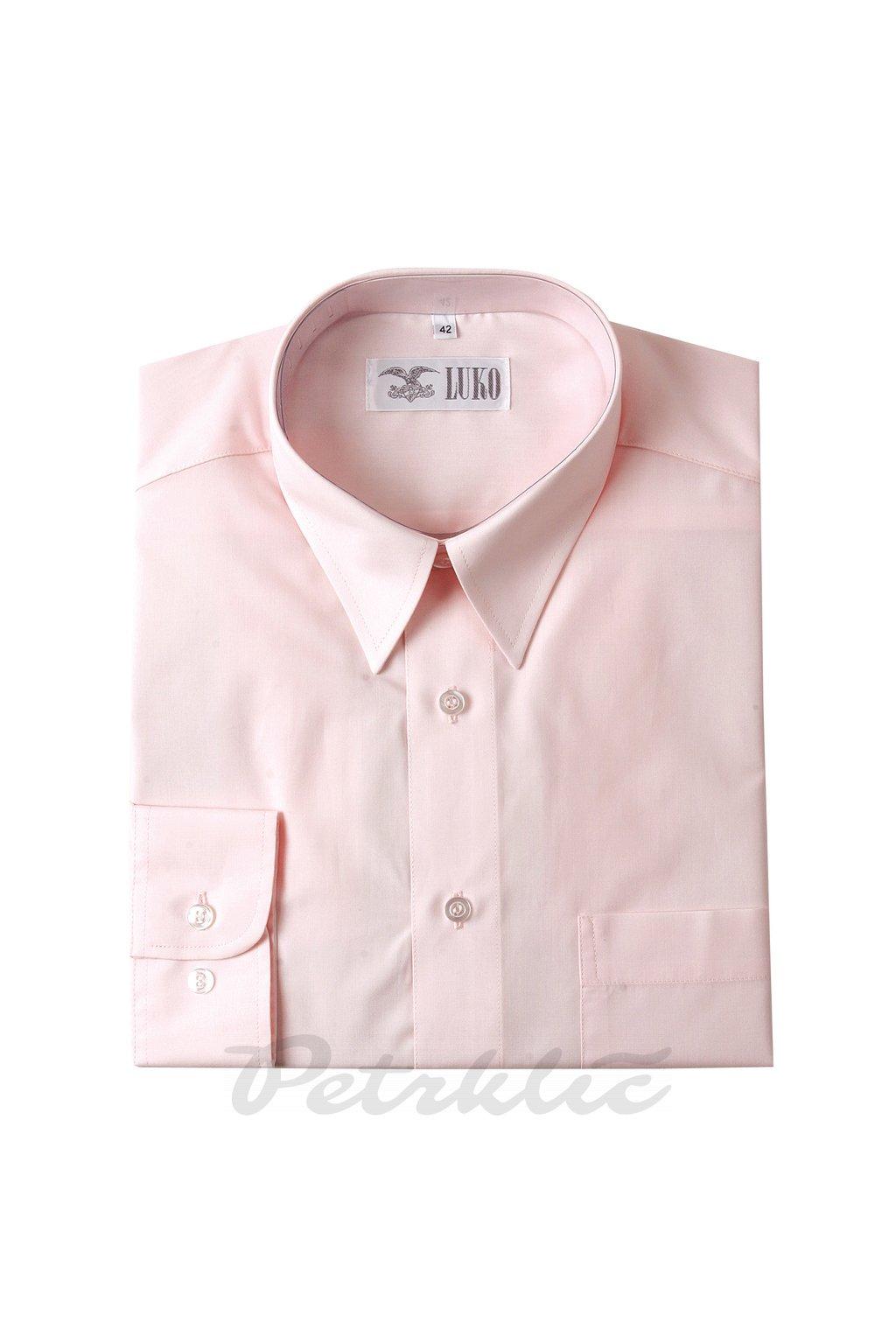 Pánská košile krátký rukáv 2 - 1:1 bavlna a polyester