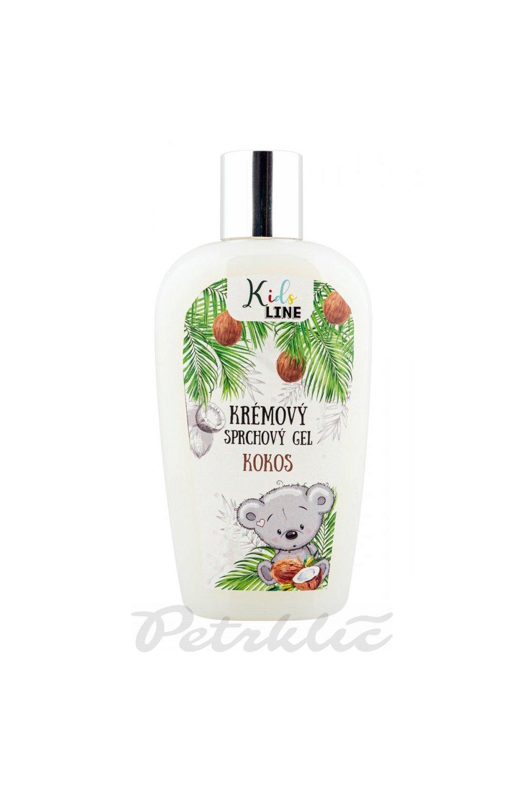 Dětský krémový sprchový gel - kokos