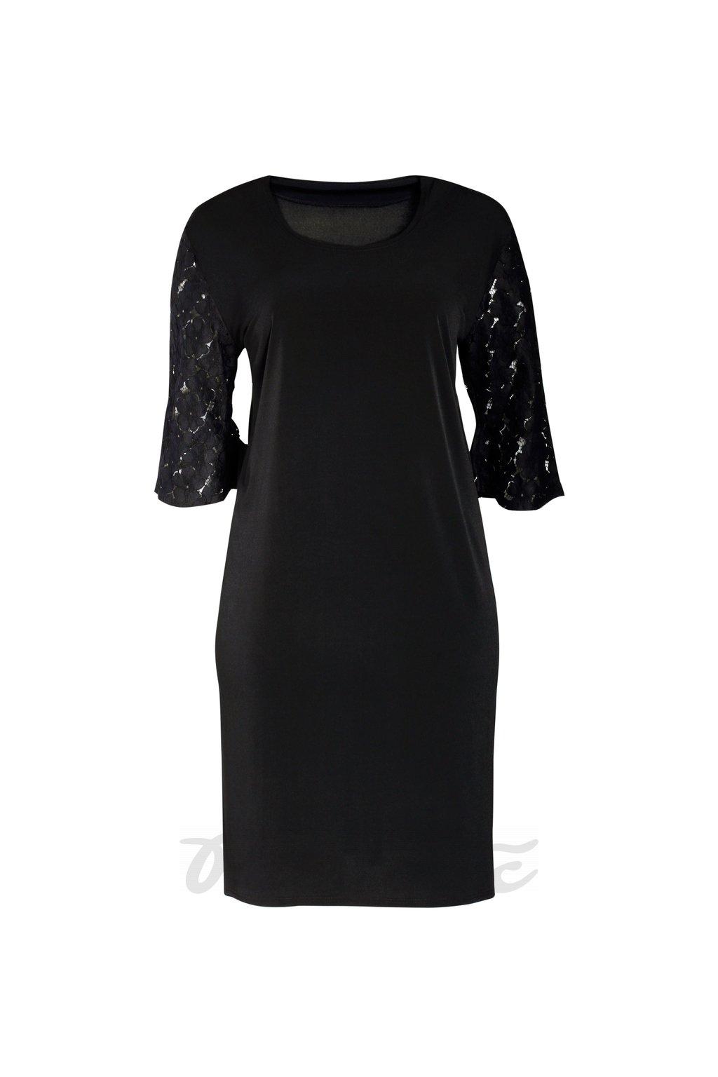 dámské šaty rovné černé 1