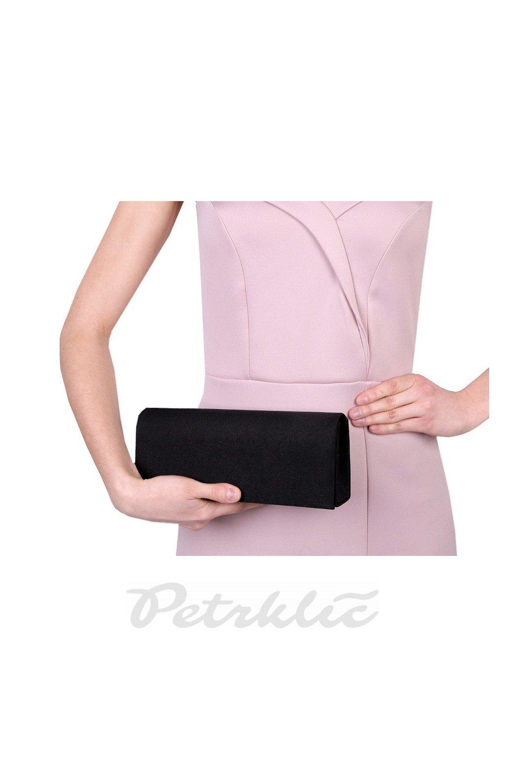 Černé psaníčko - kabelka riflového vzhledu 770827