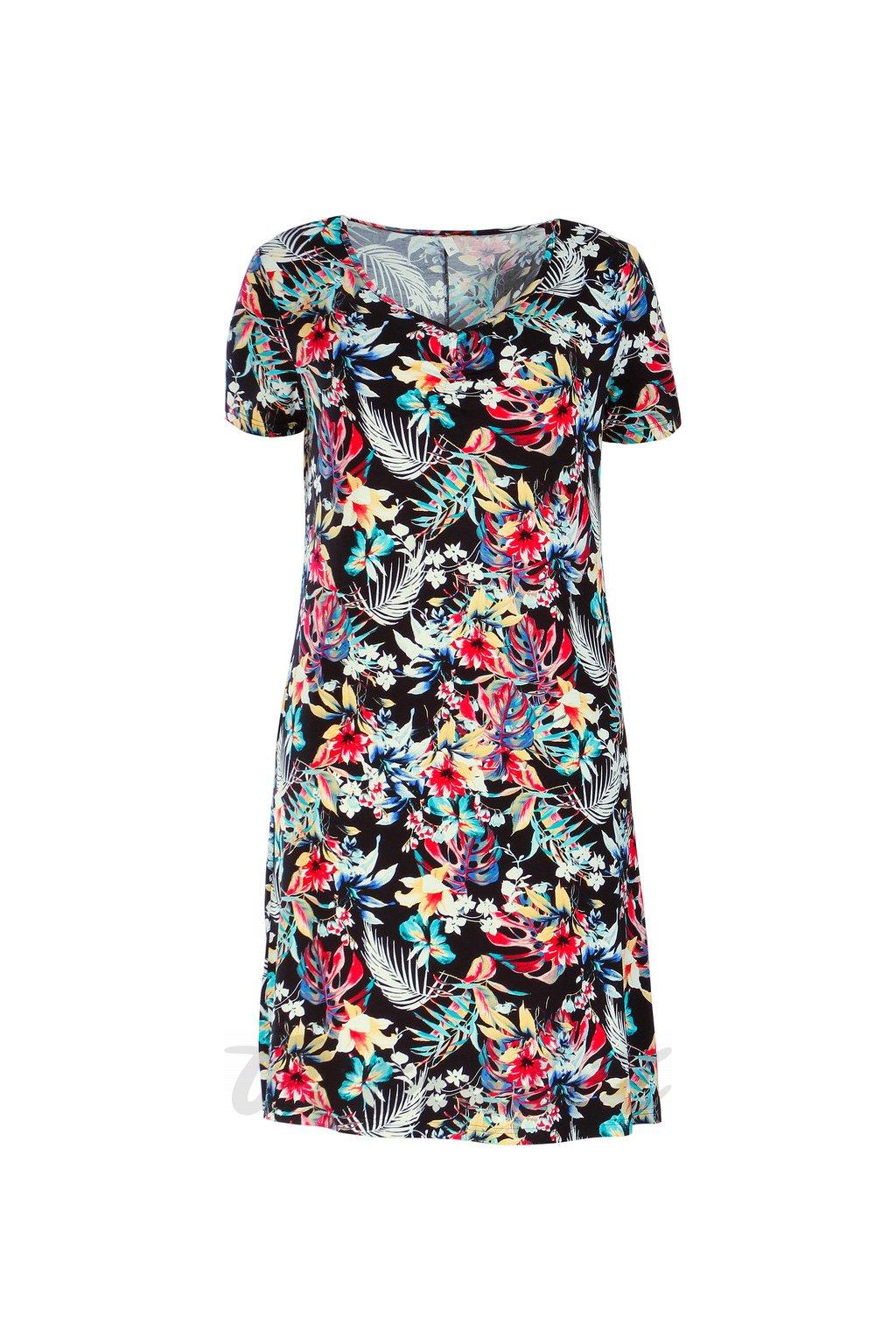 Domča - letní šaty černý tisk