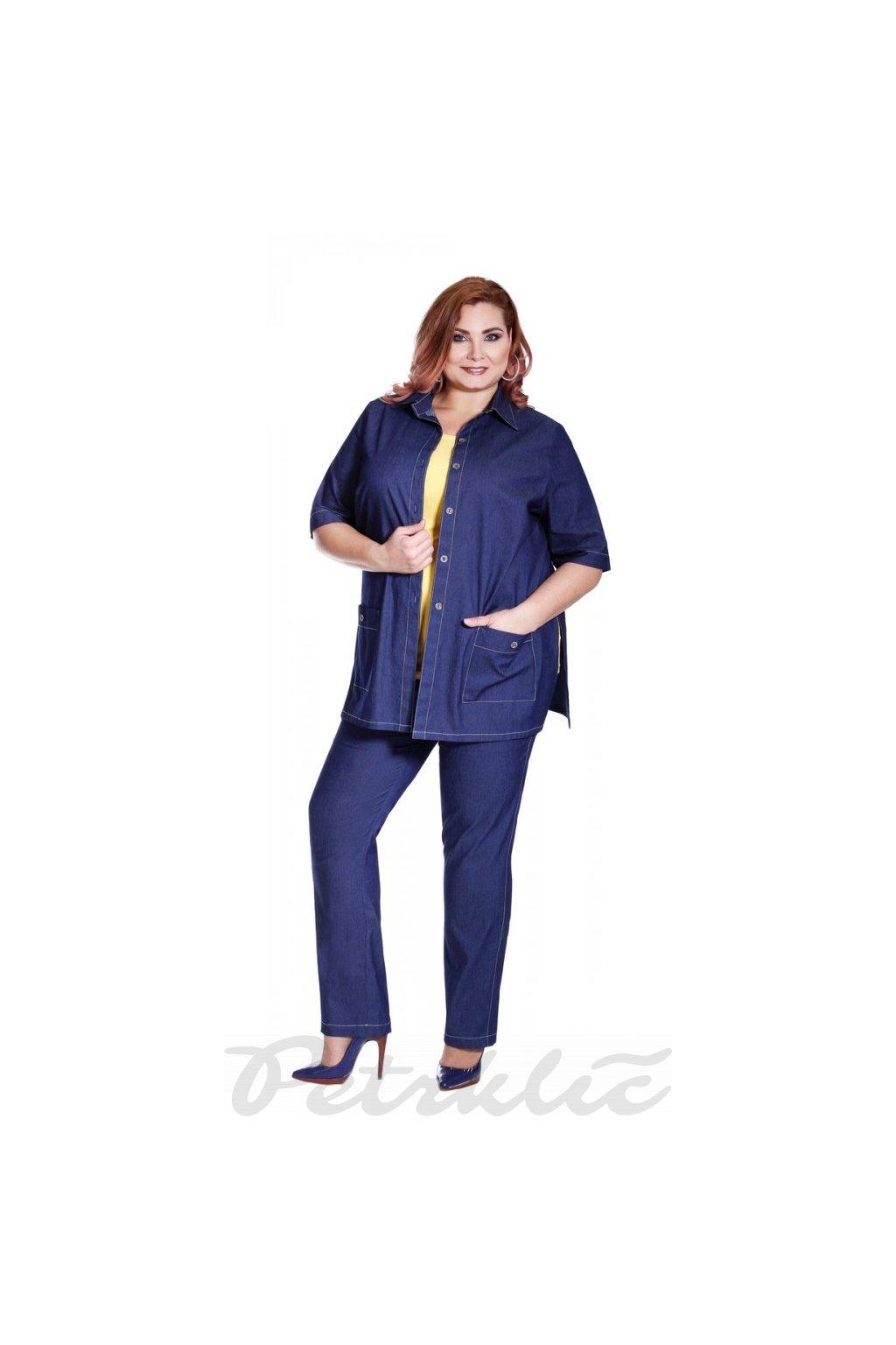MÁRO - jeansové kalhoty v délce 95 - 100 cm