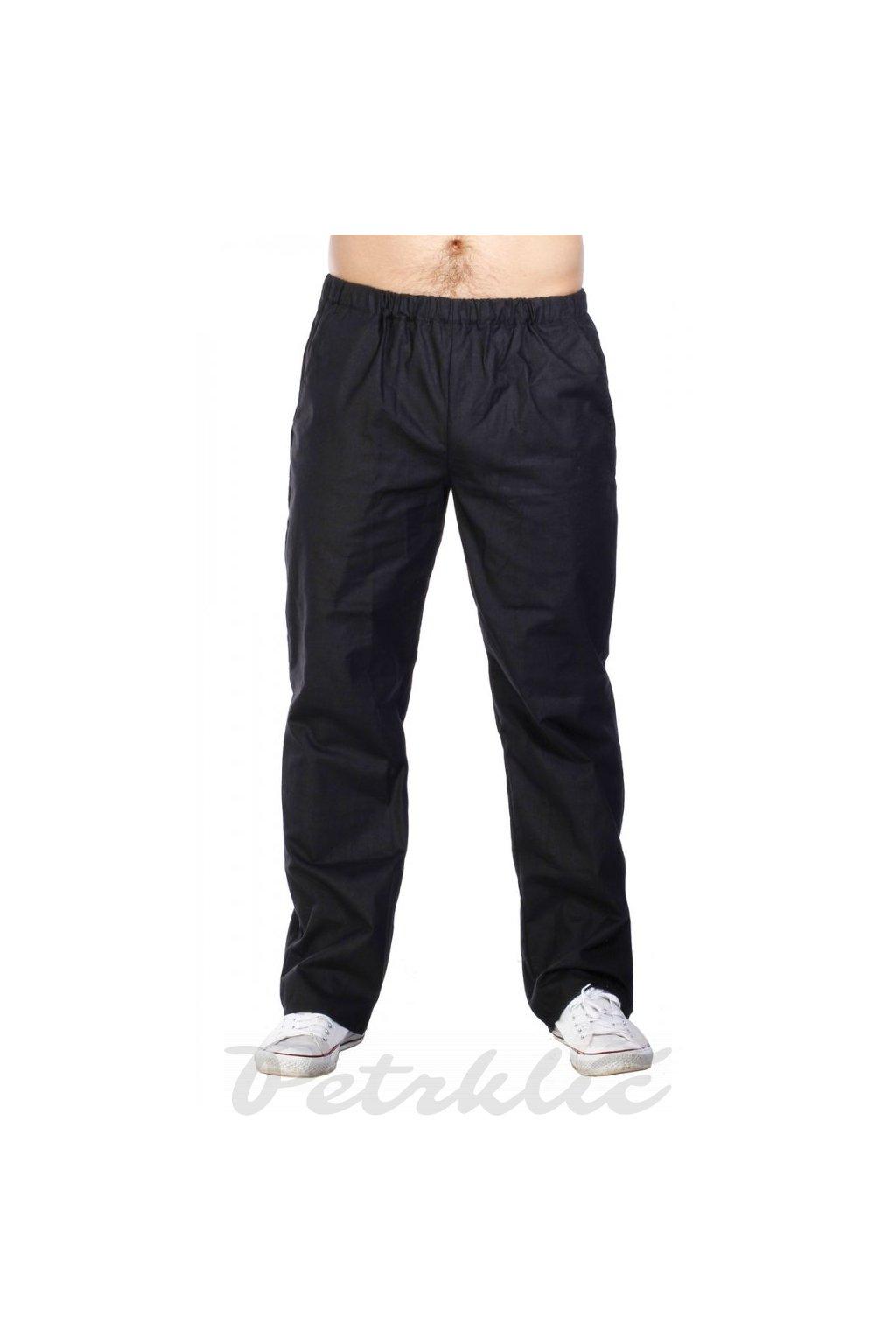 Pánské domáky - kalhoty černé