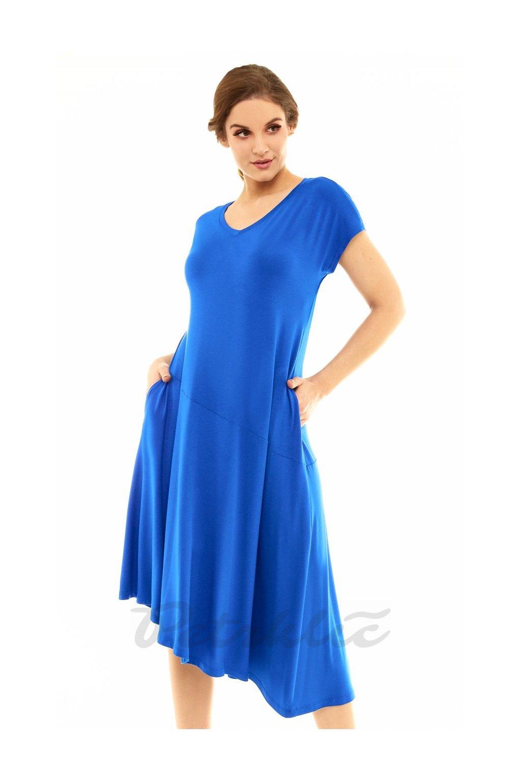 Monika šaty modrá 2
