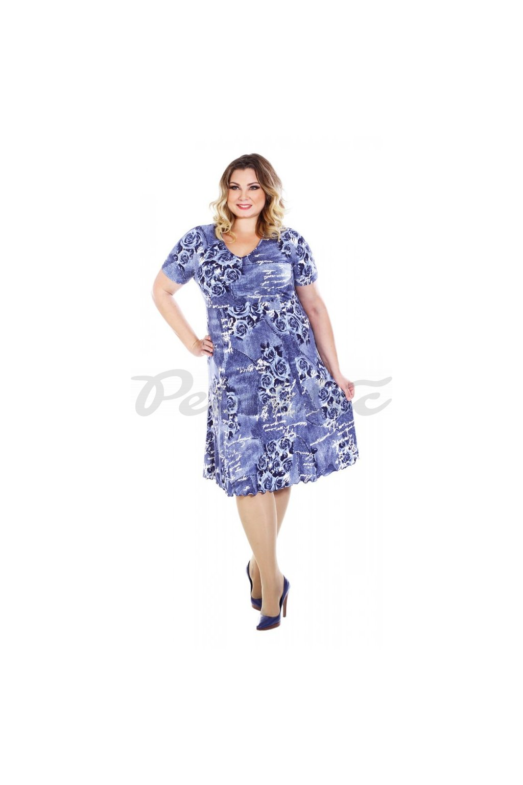 TREFA - šaty krátký rukáv 110 - 115 cm