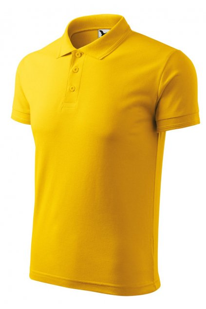 pánská polokošile polo žlutá