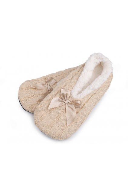 Dámská zimní domácí obuv s protiskluzem L9290619